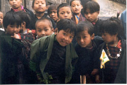 School children in Bhutan